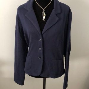 Cabi cotton and rayon navy blue jacket.